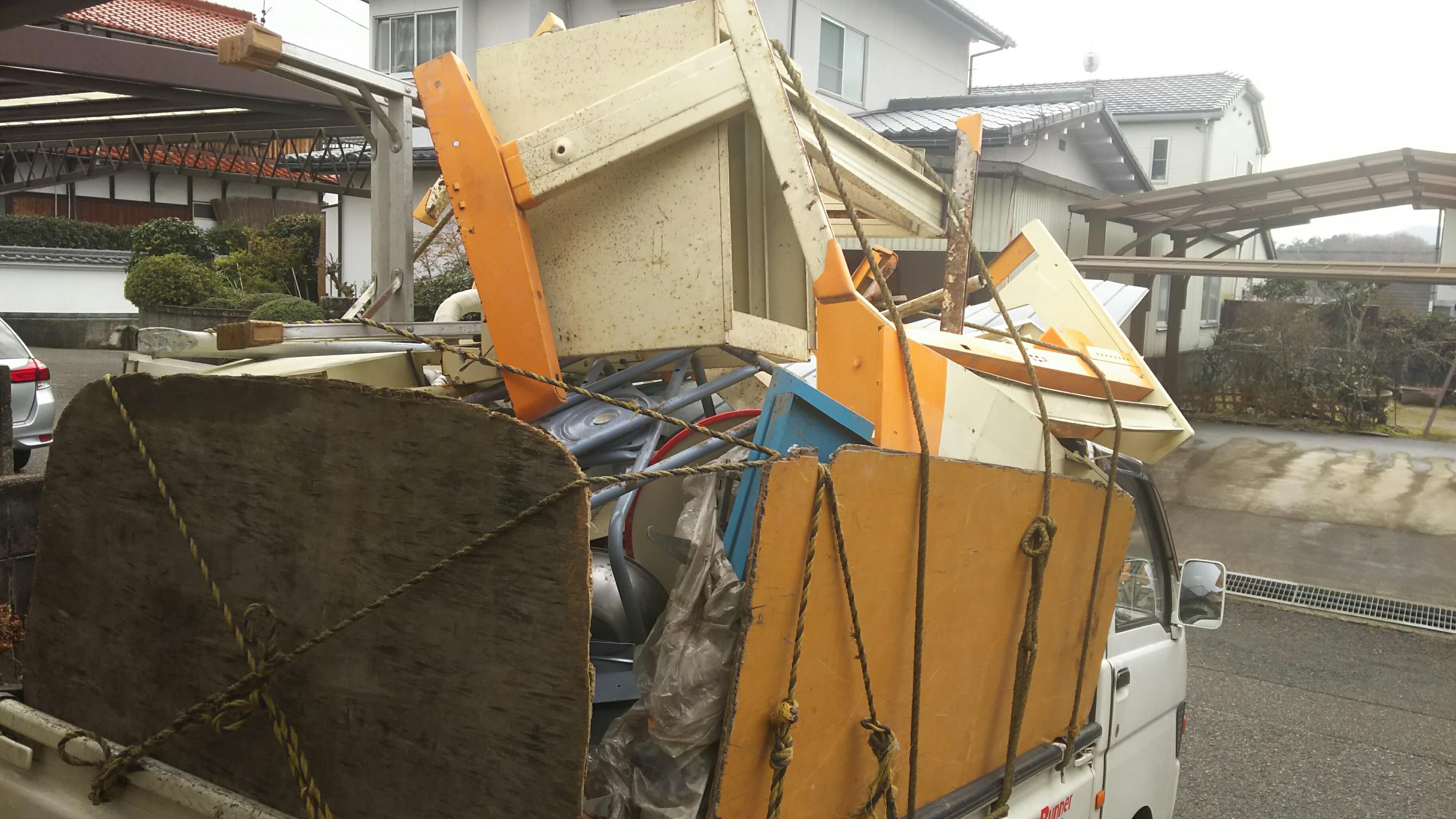 呉市で解体の家の不用品