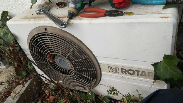 古い年式エアコン回収