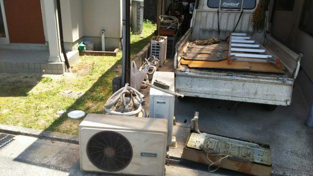 1軒家のエアコン4台回収