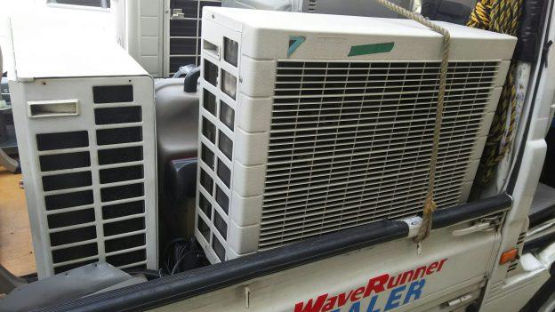 取り外し済みのエアコン無料回収