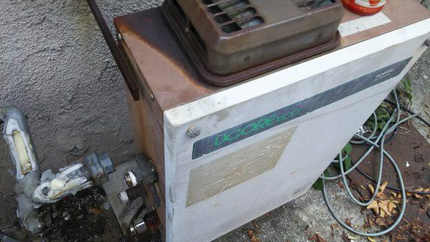 エアコン回収時に給湯器回収
