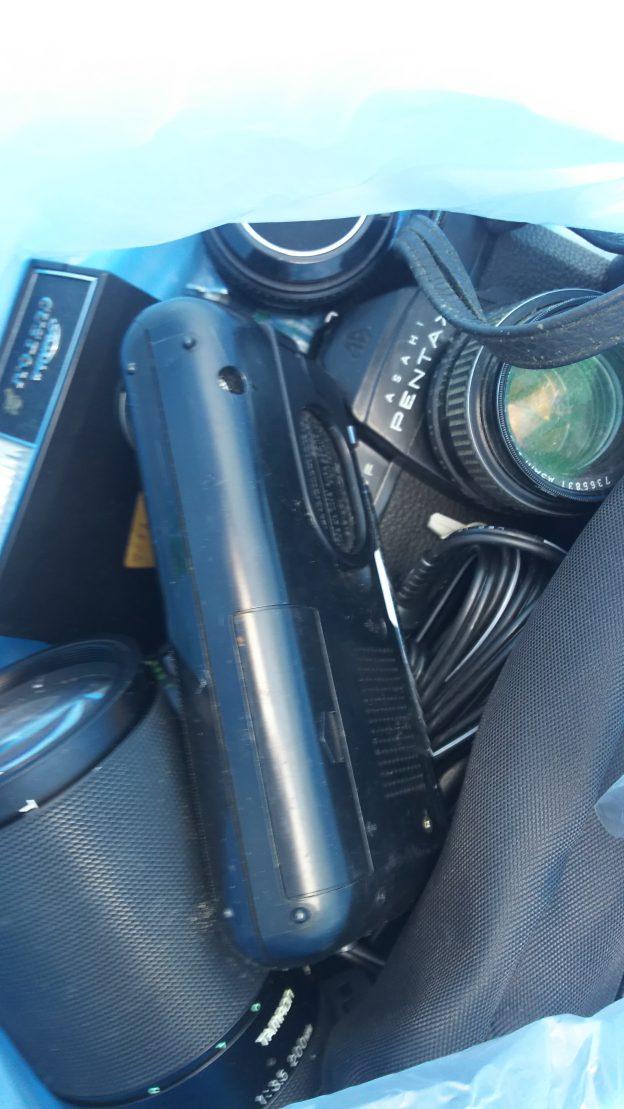 一眼レフカメラ回収