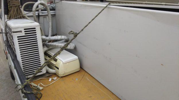 不用品出張回収専門 本日は安芸郡熊野町で エアコン1台取り外し済み 無料回収 呉市阿賀町で 温水器取り外し済みを 回収しました