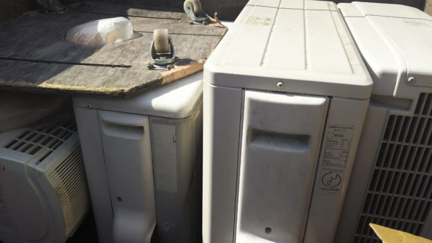 エアコン無料回収も多忙期に突入