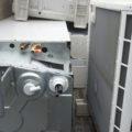 取り外し済みエコキュート、エアコン回収