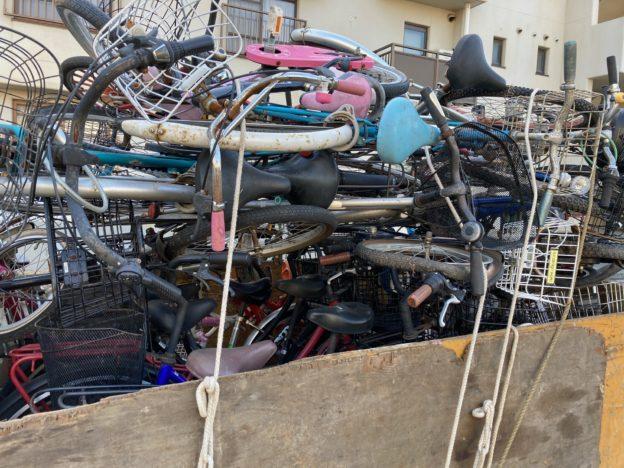 放置自転車80台回収