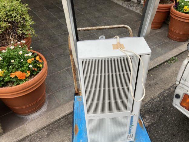 呉市マンション取り外し済み窓型エアコン回収