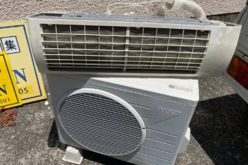 西区マンション取り外し済みエアコン無料回収