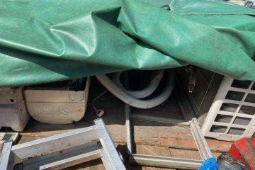 東区解体民家のエアコン取り外し回収